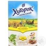 Рис Хуторок Панский басмати длиннозерный шлифованный в пакетиках 400г Украина