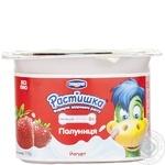 Продукт йогуртовый Растишка клубника 2.5% пластиковый стакан 115г Украина