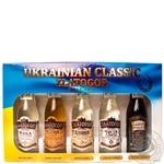 Vodka Zlatogor 40% 5pcs 250ml glass bottle Ukraine
