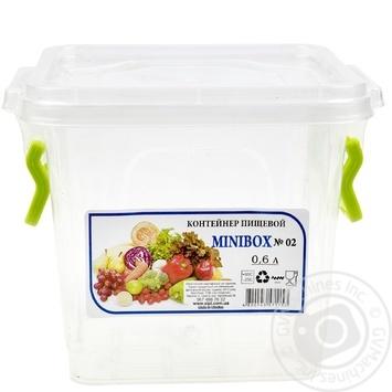 Контейнер пищевой Minibox №2 с крышкой 0,6л - купить, цены на Таврия В - фото 1