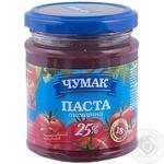 Паста томатна Чумак 25% 200г скляна банка Україна
