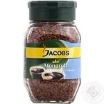 Кава Якобз Монарх натуральна розчинна сублімована декофеїнована 50г Німеччина