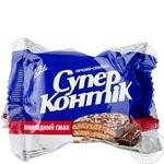 Печиво-сендвіч СуперКонтік в шоколадній глазурі 50г