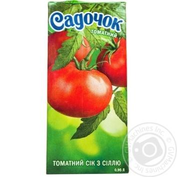 Скидка на Сок Садочок томатный восстановленный стерилизованный 1000мл