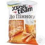 Сухарики Хрусteam хрусткі До пінного зі смаком копченого сиру 90г Україна