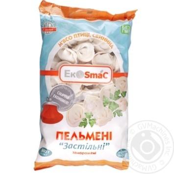 Скидка на Пельмени SmaCom Застольные с мясом птицы и свининой замороженные 900г Украина