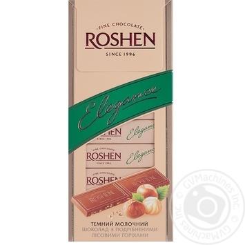 Chocolate milky Roshen Elegance hazel-nut bars 37% 100g Ukraine
