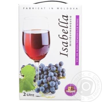 Вино Alianta Vin Изабелла красное полусладкое 13% 2л