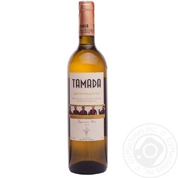 Вино Tamada Цинандалі біле сухе 13% 0,75л
