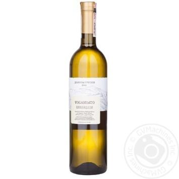 Wine tsinandali Dolyny hruzii white dry 12% 750ml in a box Georgia