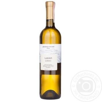 Wine Sachino white dry 750ml glass bottle Georgia