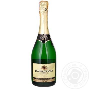 Игристое вино Bagrationi белое полусухое 12% 0,7л