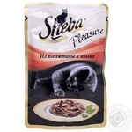 Food Sheba with tongue canned for pets 85g soft packing Russia