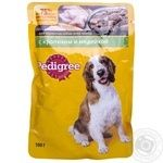 Food Pedigree turkey canned for dogs 100g soft packing Russia