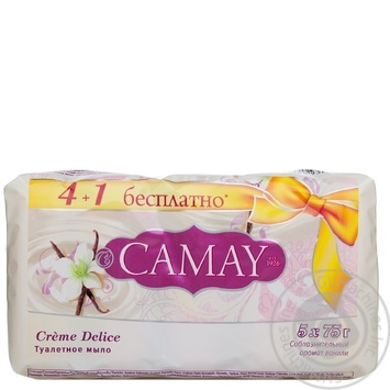 Мило Creme Delice Camay 5*75г