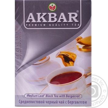 Чай черный Akbar Earl Grey 100г - купить, цены на Таврия В - фото 3