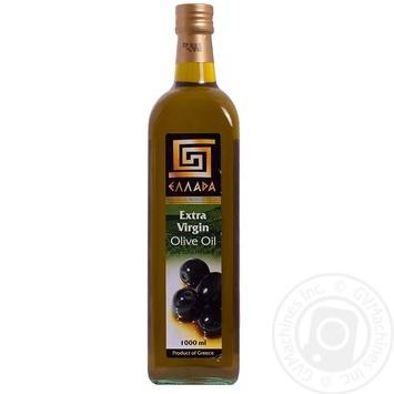 Масло Эллада оливковое экстра вирджин нерафинированное первого холодного отжима 1л