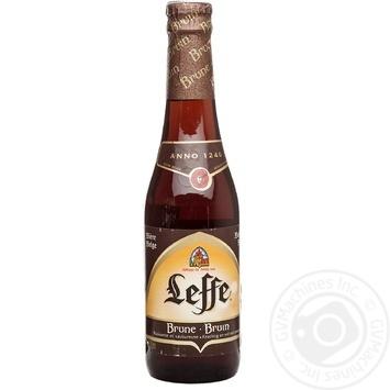 Скидка на Пиво Леф Брюн тёмное пастеризованное стеклянная бутылка 6.3%об. 330мл Бельгия