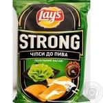 Чипсы Lay's Strong картофельные рифленые Адский васаби со вкусом васаби 120г
