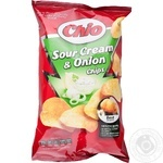 Potato chips Chio Chips with sour cream and onion taste 75g Hungary