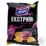 Чіпси Люкс Екстрим зі смаком хріну 140г Україна