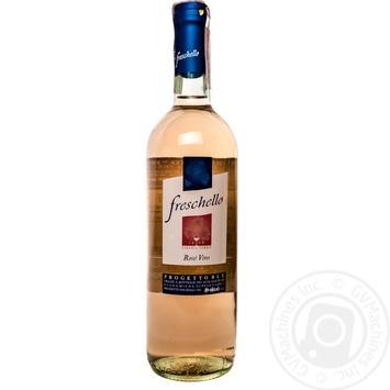 Вино Freschello Rosato Dry розовое сухое 10,5% 0,75л