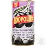 Маслины Коополива черные без косточки 370мл Испания
