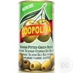 olive Coopoliva green pitted 370ml can