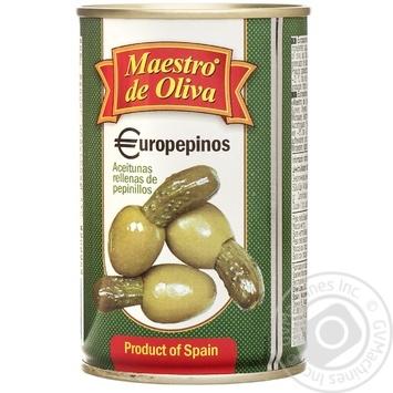 Оливки Maestro de Ol.фаршировані Огірок 300мл