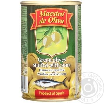 Оливки зеленые Maestro de Oliva с тунцом 300мл