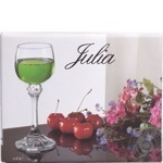 Glass Giulia for liqueur 6pcs Czech republic