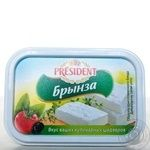 Cheese brynza President pickled 45% 250g Serbia