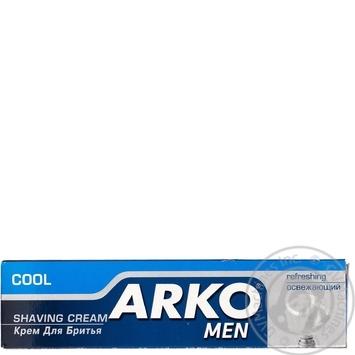 Скидка на Крем Arko Сool Men освежающий для бритья 65г