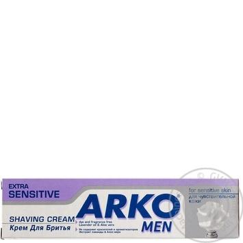 Скидка на Крем Arko Extra Sensitive Men для бритья 65г