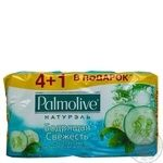 Мыло Palmolive Натурэль Бодрящая свежесть с  экстрактом зеленого чая и огурца 5 шт.