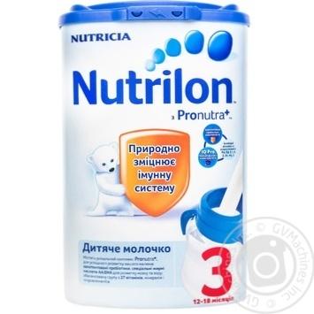 Смесь молочная Нутриция Нутрилон 3 сухая для детей с 12 до 18 месяцев 800г Нидерланды