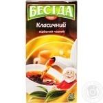 Черный чай Беседа Классический байховый в пакетиках 24х1.8г Россия