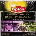 Black pekoe tea Lipton Bombay Bazaar with spices flavored teabags 20х1.8g