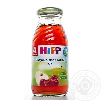Сок ХиПП малиново-яблочный детский без сахара с 4 месяцев 200мл