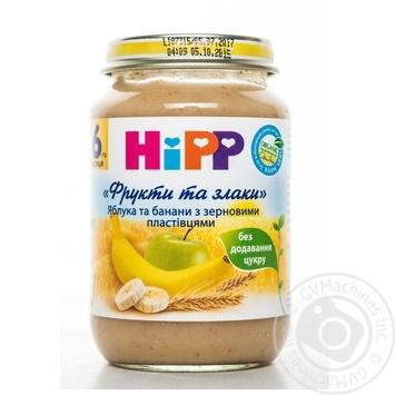 Каша детская ХиПП Яблоки и бананы с зерновыми хлопьями Фрукты и злаки с 6 месяцев 190г