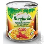 Кукуруза сладкая Bonduelle GOLD с перцем чили 425мл