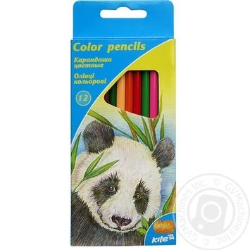 Олівці кольорові тригранні, 12шт. Kite Тварини - купити, ціни на Novus - фото 1