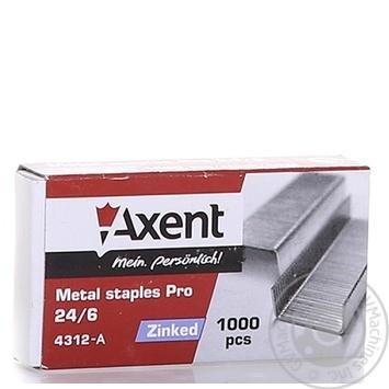 Скоби Axent PRO 24/6 1000шт - купити, ціни на Метро - фото 6