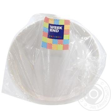 Тарілка Weekend пластикова 172мм 25шт/уп - купити, ціни на Novus - фото 1