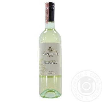 Вино Saporito Garganega-Chardonnay Veneto IGT белое полусухое 11,5% 0,75л