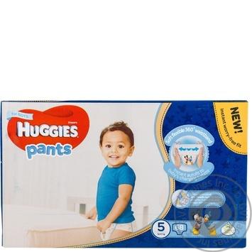 Подгузники-трусики Huggies для мальчиков 5 12-17кг 68шт/уп - купить, цены на Novus - фото 5