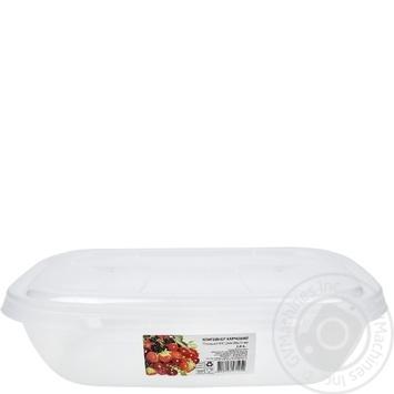 Контейнер Ал-Пластик пищевой овальный 2л - купить, цены на Таврия В - фото 1
