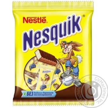 Конфеты Nesquik шоколадно-вафельные 191г - купить, цены на Novus - фото 1