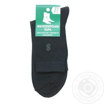 Шкарпетки Житомирська Пара чоловічі 27р - купити, ціни на МегаМаркет - фото 1