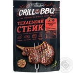 Приправа до м'яса та курки Приправка Техаський стейк з сичуанським перцем, часником та солодом 30г